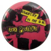 Sex Pistols - 'Anarchy in the UK Red' Button Badge